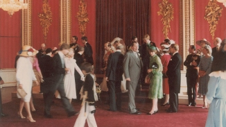 Royals gather in the Throne Room after the wedding. (RR Auction)